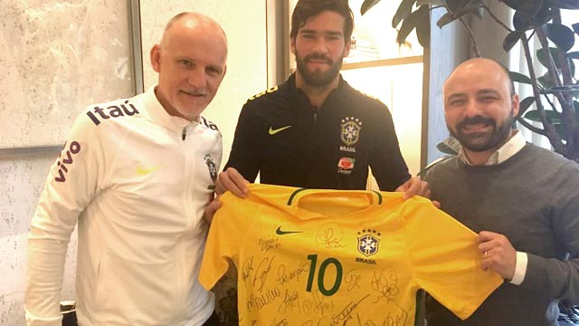 Claudio Taffarel y Alisson